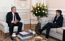 Duque y López se reunieron en Palacio.