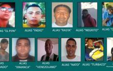 Policía difunde cartel de los 15 más buscados de Cartagena