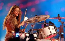 Shakira durante su presentación en el Super Bowl LIV.
