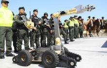 Miembros de la Policía que participarán de la estrategia de seguridad.