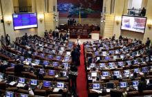 Aspecto de una de las sesiones en el Congreso de la República.