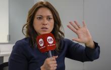 Natasha Avendaño, superintendente de Servicios, durante su visita a EL HERALDO.