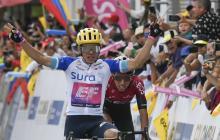 Colombiano Higuita gana cuarta etapa y es nuevo líder del Tour Colombia-2020