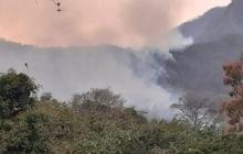 Fuego consume 700 hectáreas en la Sierra Nevada de Santa Marta