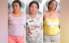 Capturan a tres presuntas expendedoras de drogas en Las Nieves