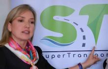 La superintendente de Transporte Carmen Ligia Valderrama.