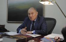 El presidente de la Corte Constitucional, Alberto Rojas, Ríos, durante la entrevista con EL HERALDO.