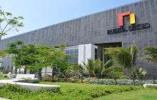 Fachada del centro de eventos Puerta de Oro, que es uno de los escenarios de la Asamblea del BID 2020.