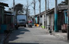 Calle 21 con carrera 35, sector en el que se registró el enfrentamiento a bala.