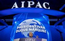 El presidente Iván Duque durante la Conferencia de Políticas del Comité de Asuntos Públicos Estados Unidos-Israel (Aipac, por sus siglas en inglés).