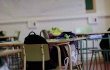 Aula de clases vacía. Imagen de referencia.