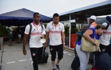 Willer Ditta y José Luis Chunga, dos de los jugadores que se desplazaron a territorio ecuatoriano.