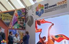Aspecto del  evento de lanzamiento de la Asamblea del Banco Interamericano de Desarrollo.