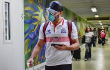 Viera es uno de los jugadores que usa tapabocas como medida de prevención por el coronavirus.