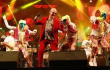 Fausto Chatela durante una presentación de Carnaval.