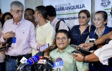 El secretario de Salud (e) del Distrito, Humberto Mendoza en rueda de prensa.