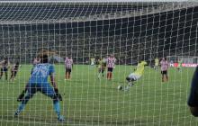 Acción del último juego disputado por Junior en la Liga. Fue ante Bucaramanga, en la octava jornada. El marcador terminó 1-1.