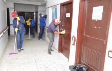 Obreros adelantan sus labores en la sede de alta complejidad del Cari.