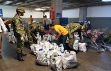 Ejército colombiano y fundaciones ayudan a los más necesitados en cuarentena