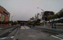 Vista de una de las estaciones de Transmetro en Barranquilla.