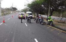 Policía de Tránsito realiza controles durante Semana Santa