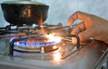 Una estufa a gas.