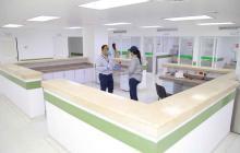 En esta zona del centro especializado estarán las enfermeras que atenderán a los pacientes.