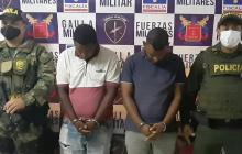 Gaula Militar captura a dos Pachencas por extorsión en Riohacha
