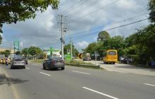 Aspecto de la calle 30, en Soledad, corredor vial que comunica al aeropuerto.