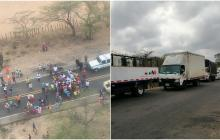 En video | Bloqueos en La Guajira impiden el traslado de pacientes graves