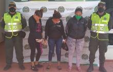 Las tres mujeres capturadas.