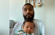Alex Cujavante junto a su hijo que lleva el mismo nombre.