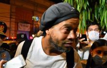 Ronaldinho, detenido en Paraguay.