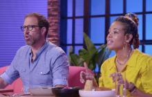 El cocinero Leather Storrs y la cantante Kelis, presentadores del programa.