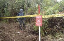 En video | Comisionado y promotores de paz pidieron no seguir sembrando minas
