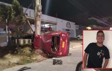 En video | Hijo de Diomedes Díaz muere en aparatoso accidente de tránsito en el norte de la ciudad