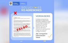 Imagen aclaratoria del Gobierno Nacional.