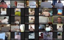 Los Orioles motivan con videollamada y carteles a pelotero con cáncer de colon