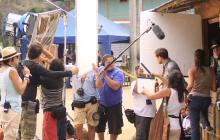 Detrás de cámaras de una producción colombiana.