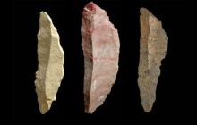Herramientas de piedra sofisticadas creadas por Homo sapiens.