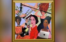 Una serie de pinturas de Magola Moreno intervenidas son la imagen del portal.