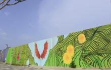 'Pon tus sueños a volar', el mural de Daniella Char