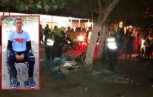 Víctor Manuel López Rodríguez (en el recuadro) fue asesinado en calle 69A con carrera 5.