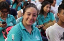 Jóven beneficiada del programa Jóvenes en Acción.