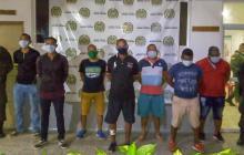 Los siete detenidos fueron dejados a disposición de la Fiscalía.
