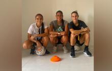 Mariana Cardona, Renata Arango y Daniela Montoya, integrantes del Junior femenino.