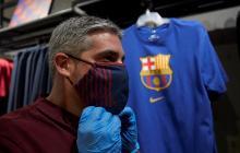 Así son las mascarillas que diseñó el Barcelona.
