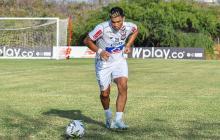 Teófilo Gutiérrez, delantero estrella de Junior. Los equipos podrán retornar a entrenamientos en campo con sesiones individuales.