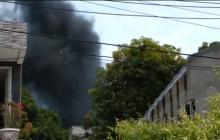En video   Se incendió la casa de Kevin Flórez