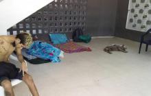 La familia Pérez Monterrosa asegura que dos de sus miembros detenidos han estado en este lugar desde mediados de abril.